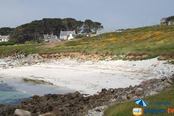 Crique abritée des vents sur l'ile de Batz