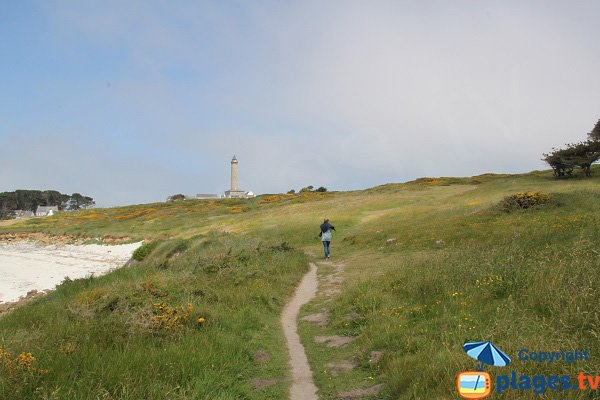 Coastal path of the island of Batz