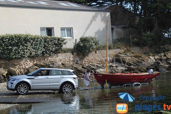 Zone de mise à l'eau de bateaux à Plouguerneau