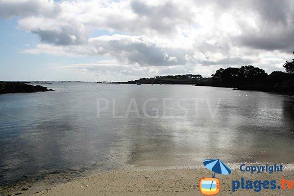 Photo de la plage de Poull Glaz à Plouguerneau