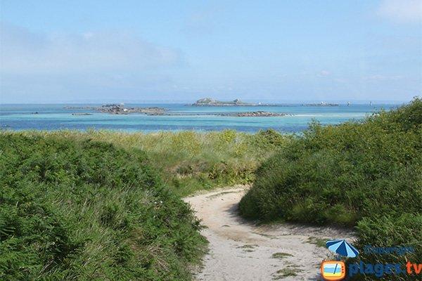 Path of the beach of Poull Zarab - Batz