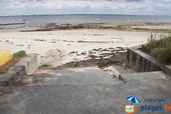 Accès à la plage de Poul Perneau à St Pierre Quiberon