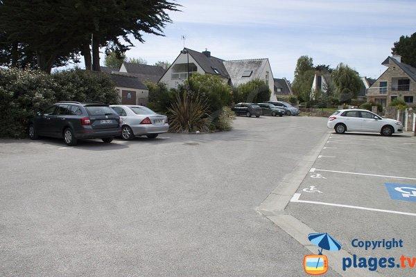 Parking de la plage de Poul Perneau à Quiberon