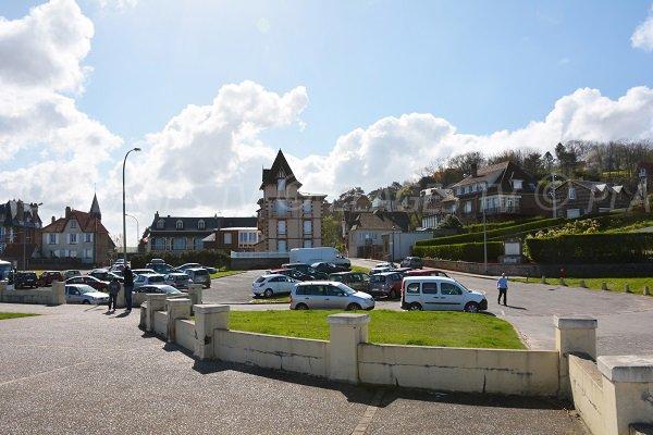 Parking de la plage de Pourville sur Mer