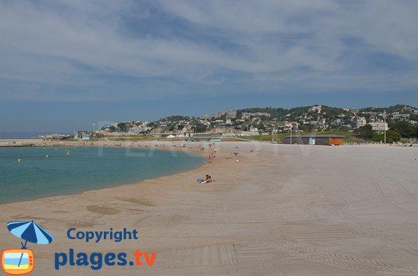 Prado beach in Marseille