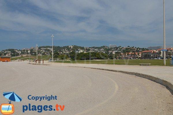 Environnement de la plage du Prado Nord de Marseille