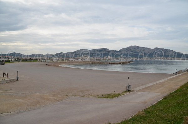Prado Nord beach in Marseille in France