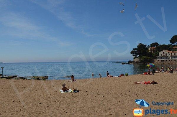 Vue sur le large depuis la plage du Pradon - Carqueiranne