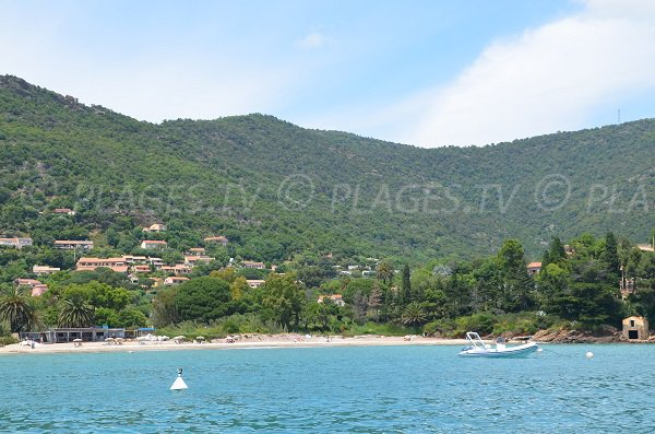 Pramousquier beach in Lavandou and Rayol Canadel