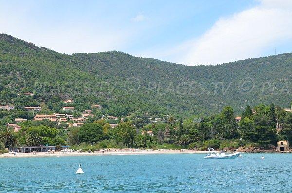 Partie gauche de la plage du Pramousquier au Lavandou - Rayol Canadel