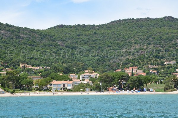 Central beach of Pramousquier in Lavandou