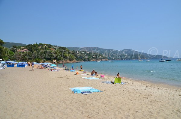 Private beach on the beach of Pramousquier - Rayol Canadel
