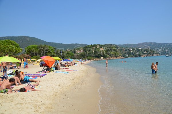 Photo of the Pramousquier beach in Rayol Canadel - France