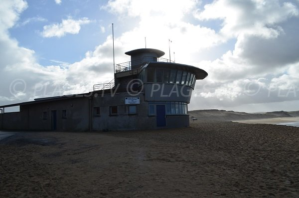 Lifeguard station of Prévent beach in Capbreton