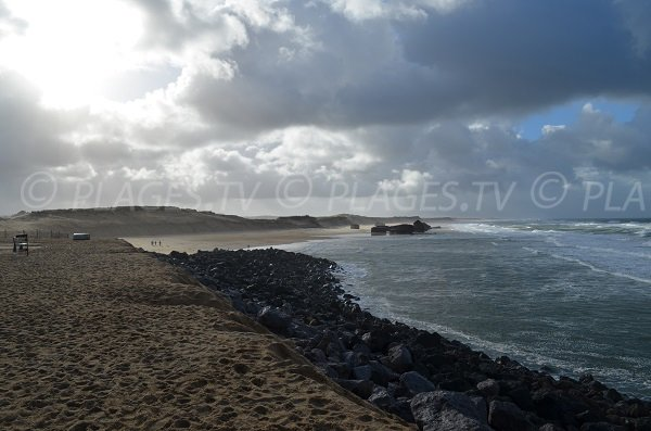 Prévent and Savane beaches in Capbreton