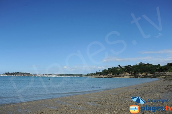 View on Solidor harbor of St Malo from Dinard beach