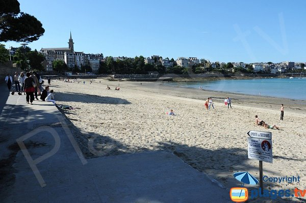 Prieuré beach in Dinard in France