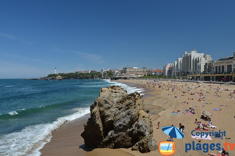 Biarritz et sa plage du centre ville