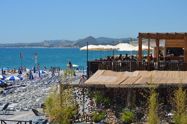 Restaurant by the sea at Cagnes sur Mer - Le Cigalon