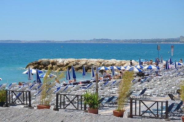Spiaggia privata Le Cigalon a Cagnes sur Mer