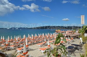 Beach of Juan les Pins (France)