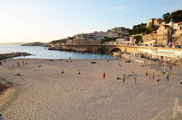 Sand beach in Marseille - Prophete