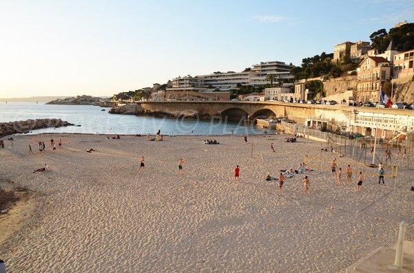 Plage de sable du Prophète de Marseille