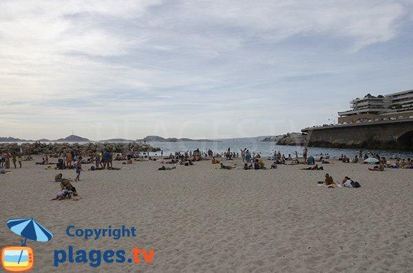 Vue sur Frioul depuis la plage du Prophète - Marseille