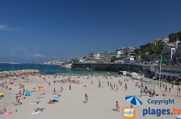 Photo de la plage du Prophete à Marseille en été