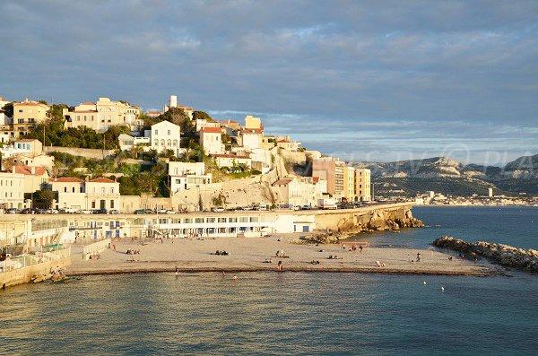 Prophète beach in Marseille in France
