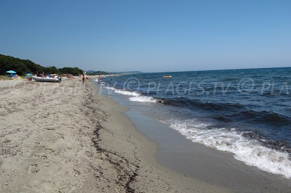 Beach of Prunete in Cervione - North area