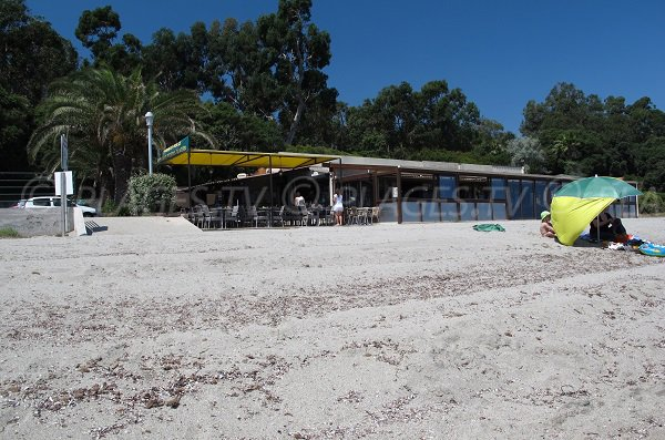 Restaurant of Prunete beach in Cervione