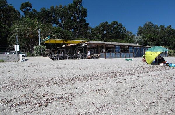 Paillote della spiaggia Prunete a Cervione