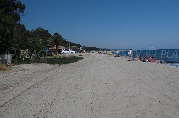 Prunete beach in Cervione in Corsica
