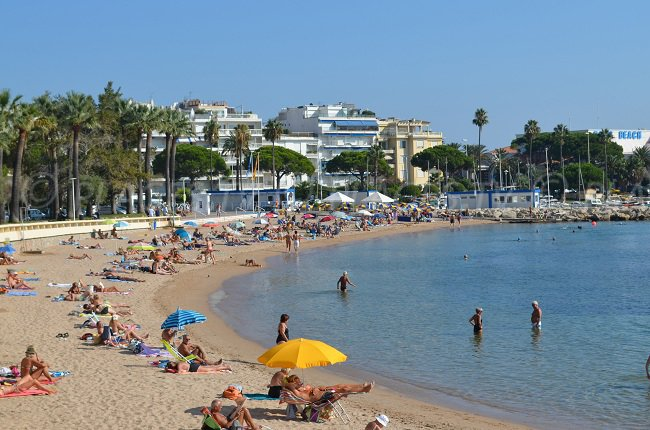 Bijou beach in Cannes - one of the most beautiful public beach