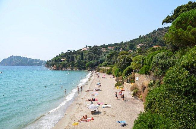 Landing beach in Rayol-Canadel