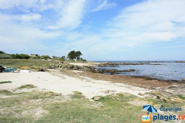 Pulante beach in Ile d'Yeu in France