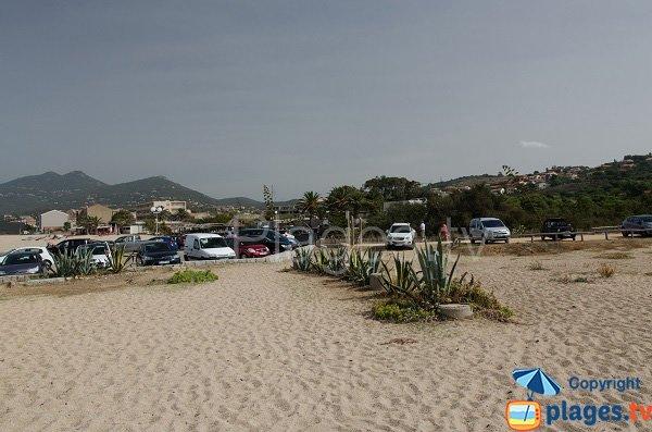 Parking de la plage de Puraja - Propriano