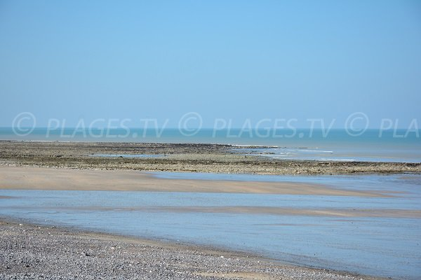 Plage de Quiberville - galets et sable