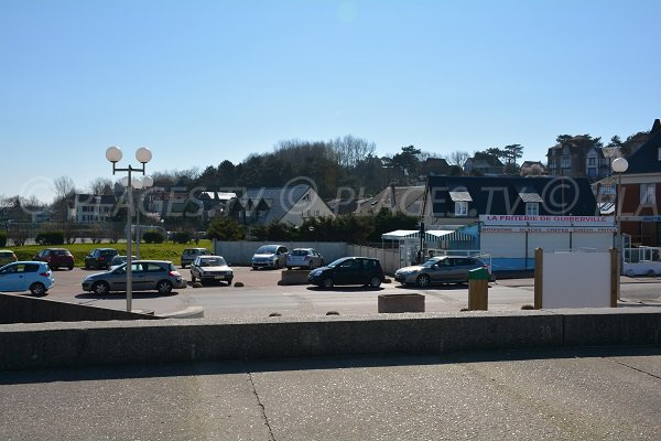 Parking of Quiberville beach
