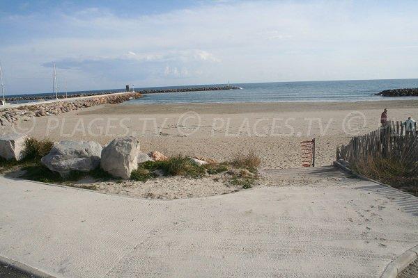 Plage des Quilles sur la Corniche de Sète