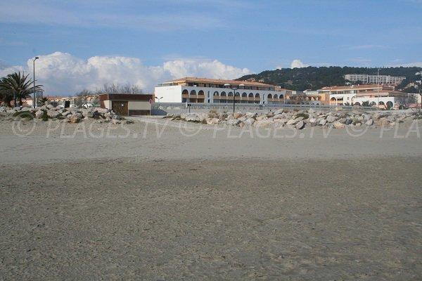 Environnement de la plage des Quilles de Sète