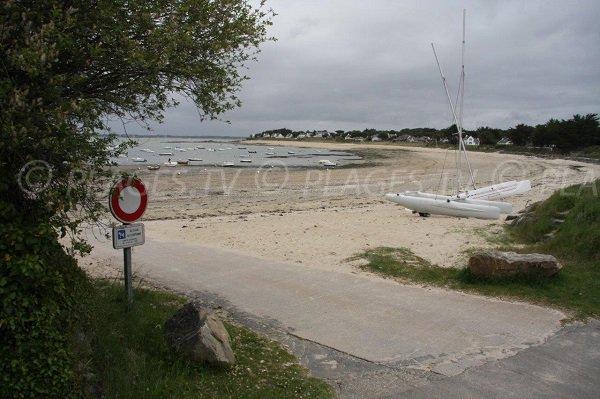 Photo de la plage de Lanséria à Mesquer