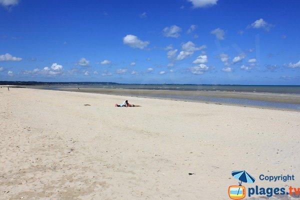 Plage de Quinéville à marée basse