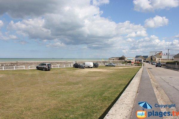 Parking de la plage de Quinéville