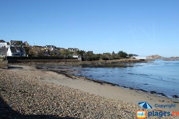 Photo de la plage du Quinquai à Plougasnou