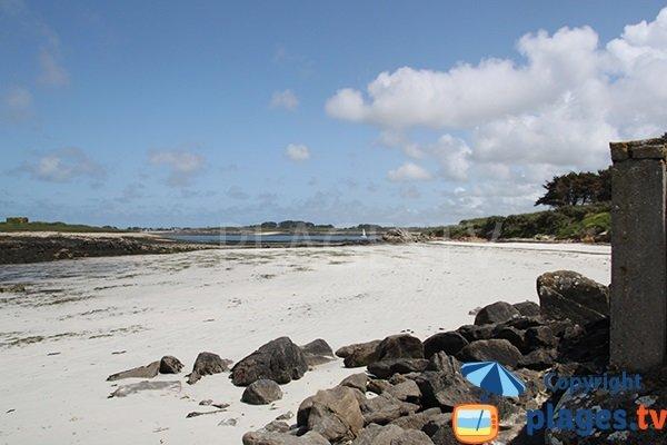 Photo de la plage de Quistillic à Landéda