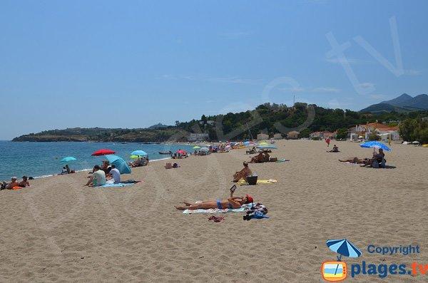 Spiaggia nel sud di Argelès tra il porto e le calette