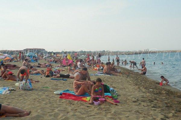 Plage du Racou avec vue sur Argelès sur Mer