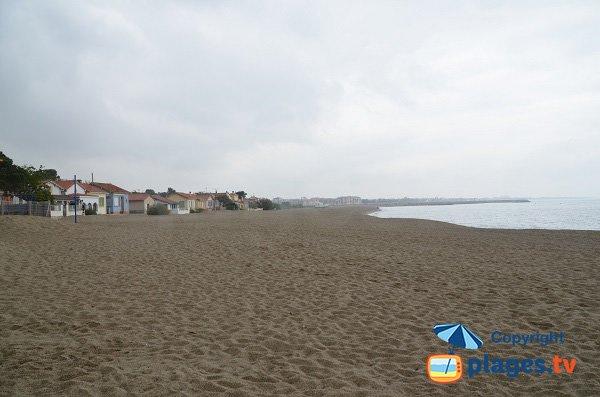 Foto della spiaggia di Racou fuori stagione